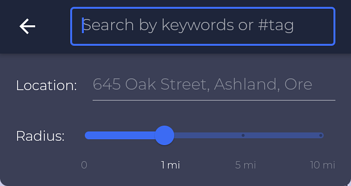 Screenshot - Nearby search by tag (cut)