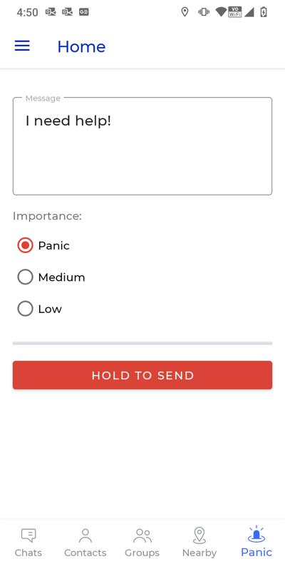 Screenshot - area alert