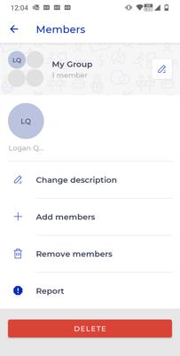 Screenshot - group profile